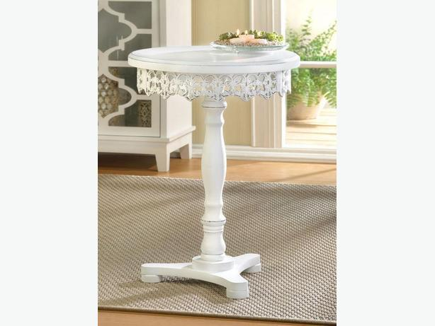 Brilliant Log In Needed 100 Shabby Chic White Pedestal Accent Table With Decorative Cutwork Detailing Round Squirreltailoven Fun Painted Chair Ideas Images Squirreltailovenorg