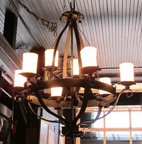 Forte Lighting Natural Iron 9 Light Chandelier I 46831
