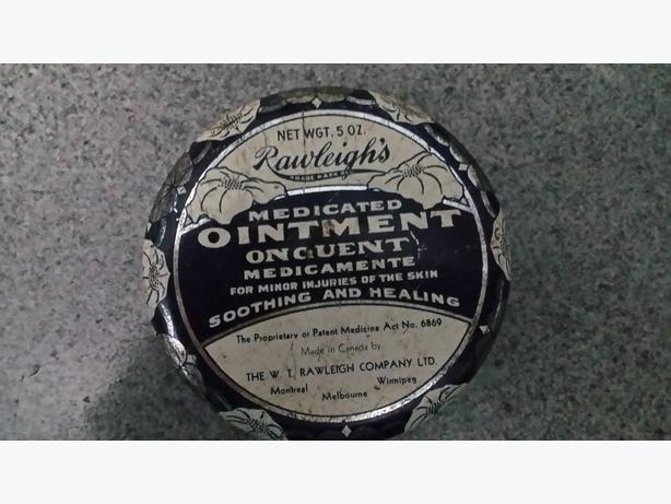 Vintage ointment tin for Rawleigh's Medicated Ointment 1930s