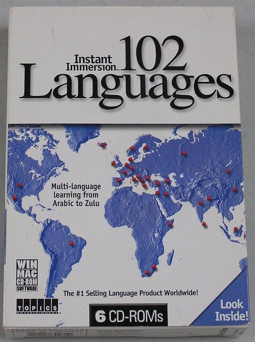 Brand new instant immersion 102 languages win mac windows for 102 hamilton terrace london