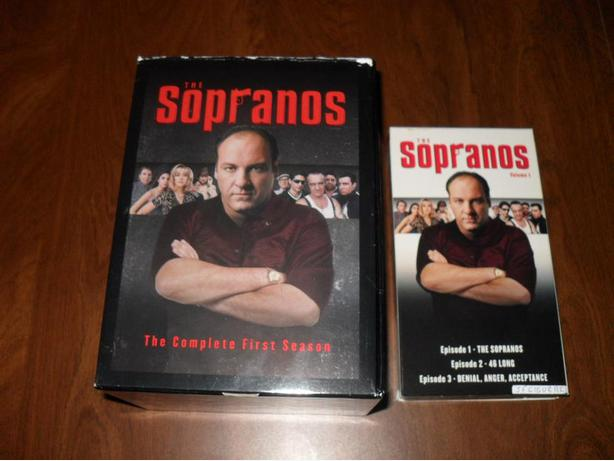 The Sopranos Season one Volume 1 VHS Tape + Collector's Box