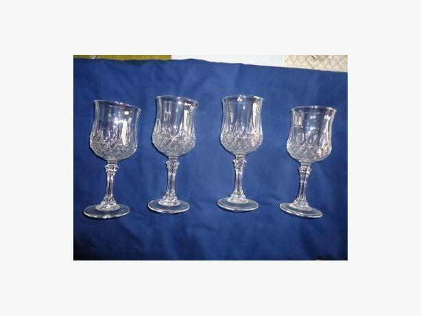 Cristal d'Arques ''Longchamp'' 4 Oz. Wine Glasses (Set of 4)