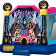 Rock Star Inflatable Combo Bouncy Castle Rental with Contactless Delivery!
