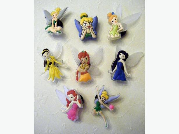 Set of 8 Tinkerbell Shoe Charms or Magnets