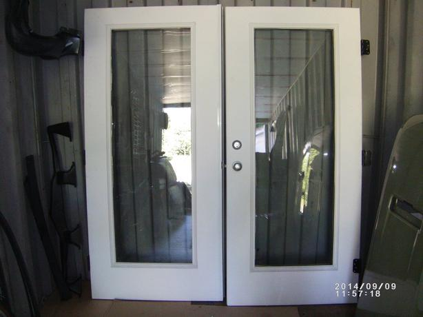Veranda french outswing patio doors outside comox valley for Double wide patio doors