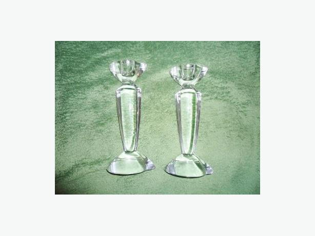 Contemporary Modern Design - Crystal Candlesticks (Pair)