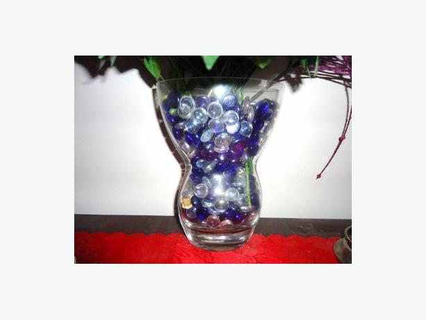 Crystal Flower Vase - Hour Glass Shape