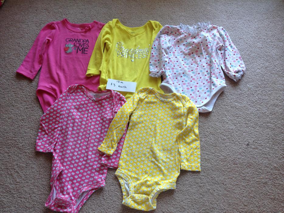 Girl's baby toddler children clothes 12 through 24 months ...