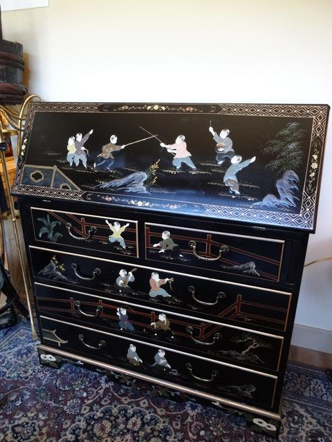 Asian style writing desk central saanich victoria for Oriental style desk