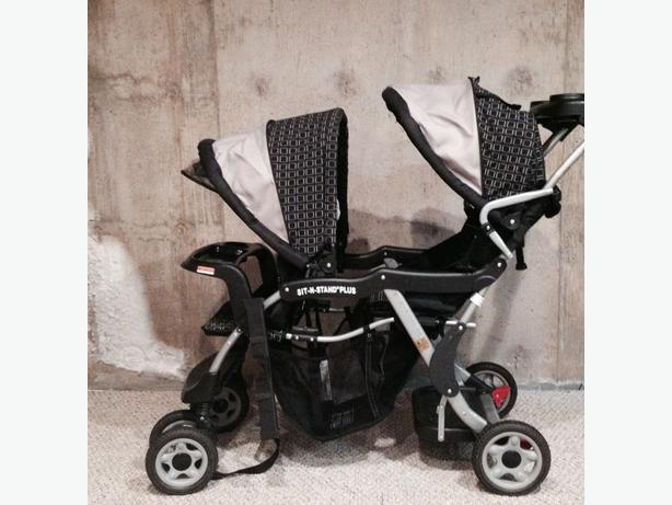 One Step Ahead Sit & Stand Plus double stroller North Regina ...