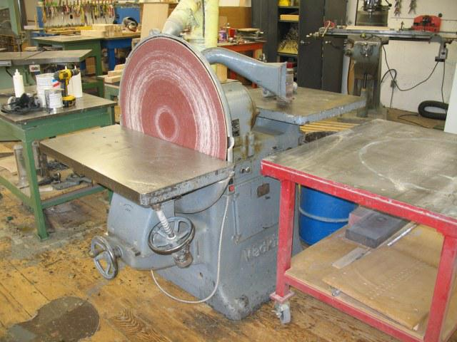 Wadkin combined disc and spindle sander north saanich for 10 inch sanding disc table saw