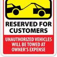 "Custom Full Color Parking Signs - 12"" x 18"" Laminated 51mil Aluminum Base"
