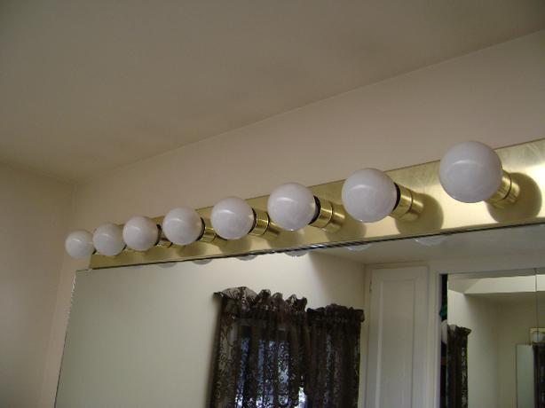 8-Bulb Brass Bathroom Light Fixture Saanich, Victoria