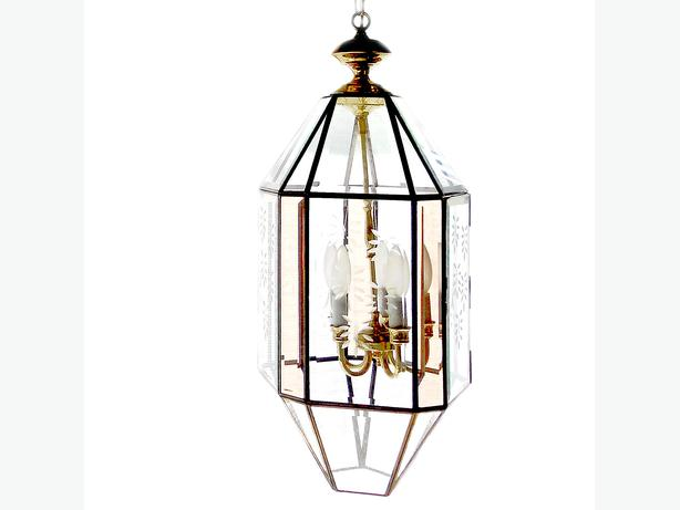 Priced To Sell Vintage Lantern Chandelier By Fredrick