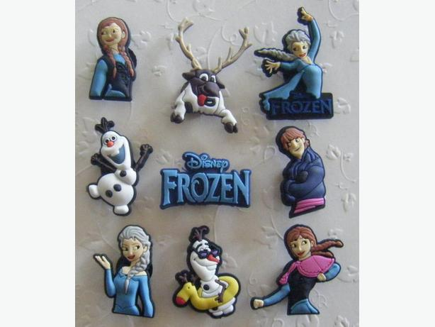 "Set of 9  ""Frozen"" Shoe Charms or Magnets"