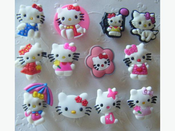 Hello Kitty Shoe Charms or Magnets