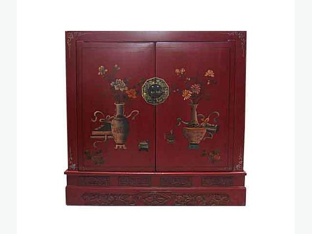Clearance Sale --- Red Painted Chinese Chest - $599