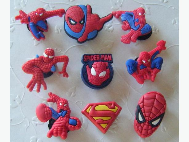 Spiderman  Shoe Charms or Magnets