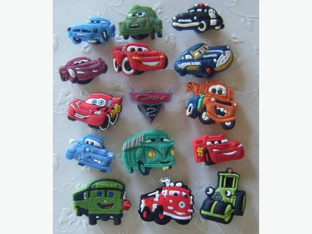 "Disney ""Cars""  Shoe Charms or Magnets"