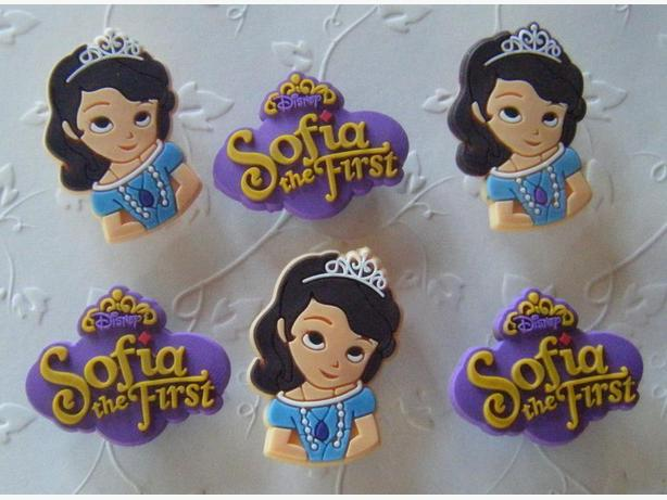 Princess Sofia Shoe Charms or Magnets