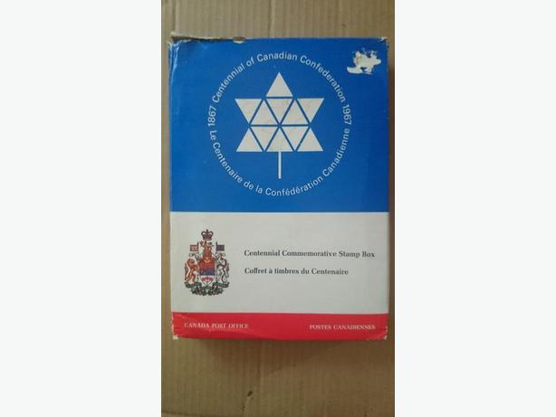 1967 Canada Post Centennial Commemorative Stamp Box