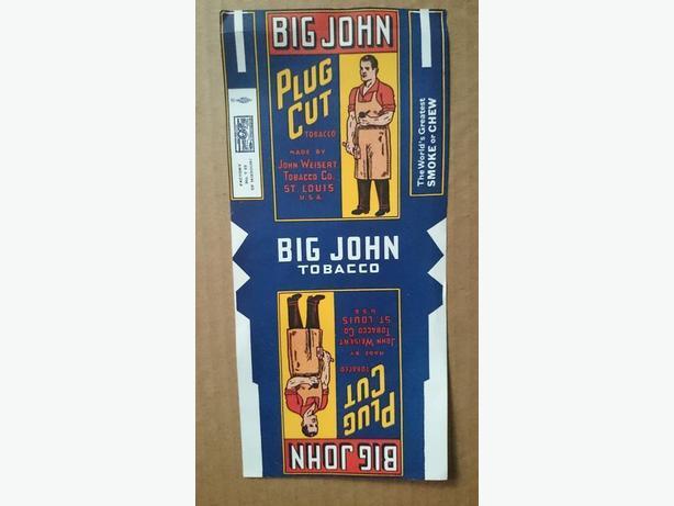 Big John Plug Cut tobacco label