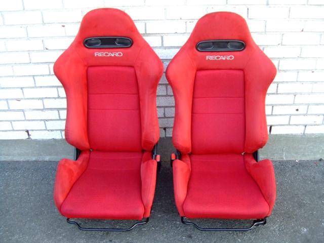 Jdm Honda Acura Rsx Dc5 Type R Red Recaro Seats Pair Used