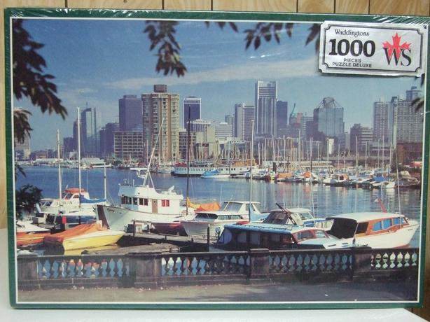 Waddingtons 1000 Pieces Jigsaw Puzzle deluxe Vancouver Marina