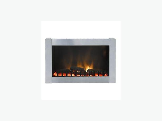 Dresden Stainless Steel Wall Mount Electric Fireplace Victoria City Victoria
