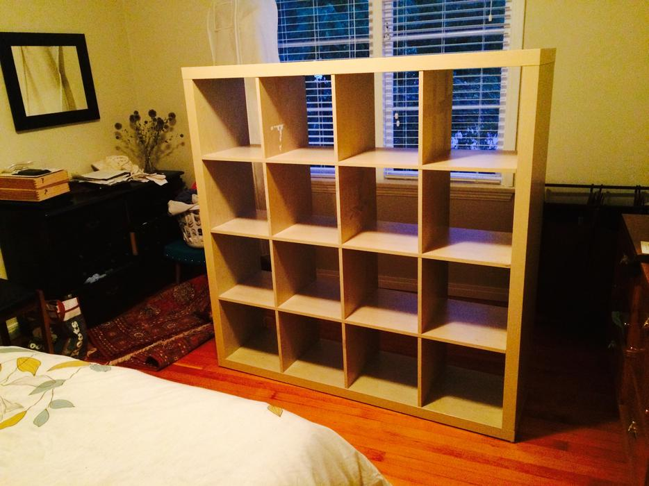 ikea 4x4 expedit shelving unit discontinued victoria city victoria. Black Bedroom Furniture Sets. Home Design Ideas