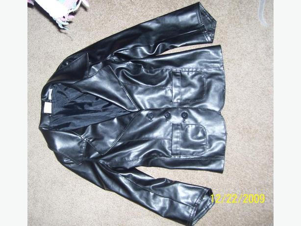 Girls Leather look jacket blazer Size 7  EXCELLENT  GIFT