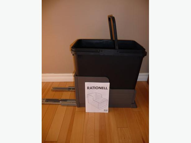 Ikea rationell slide out garbage bin east regina regina - Ikea pull out trash bin ...