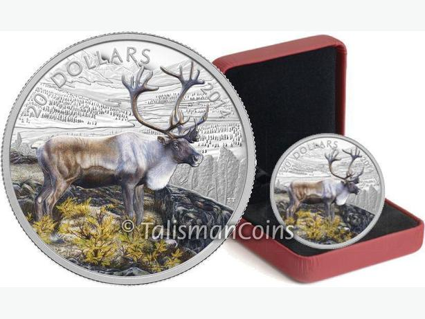 Canada 1 oz. Fine Silver Coin - The Caribou
