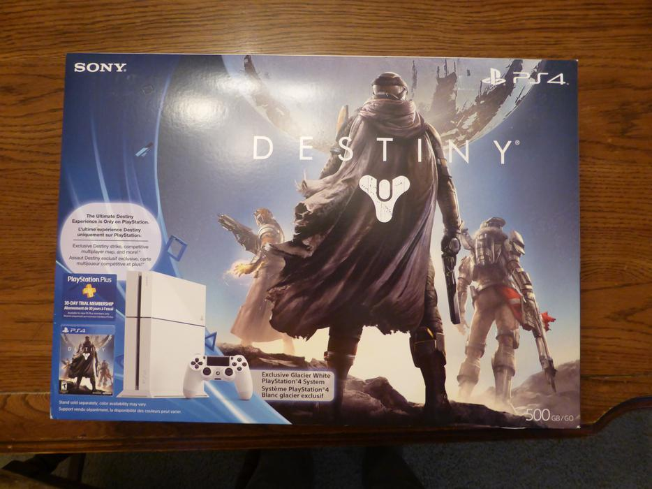 Glacier White Playstation 4 Destiny Bundle - New in Box ...