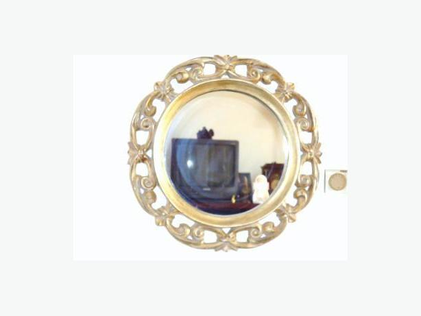 Bombay Company - Round Mirror - Antique Pale Gold