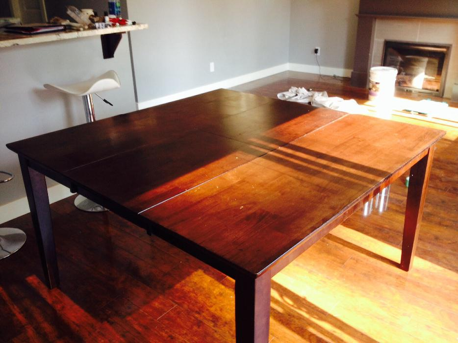Solid Dining Table With Built In Leaf West Shore