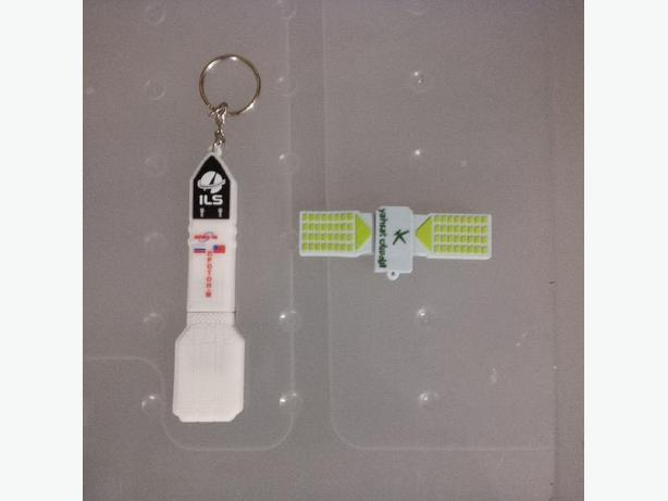 USB sticks in the shape of a satellite