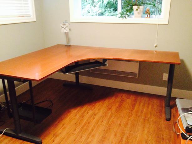Marvelous L Shaped IKEA Galant Computer Desk Part 4