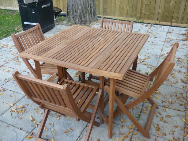 Eucalyptus 5 Piece Patio Set