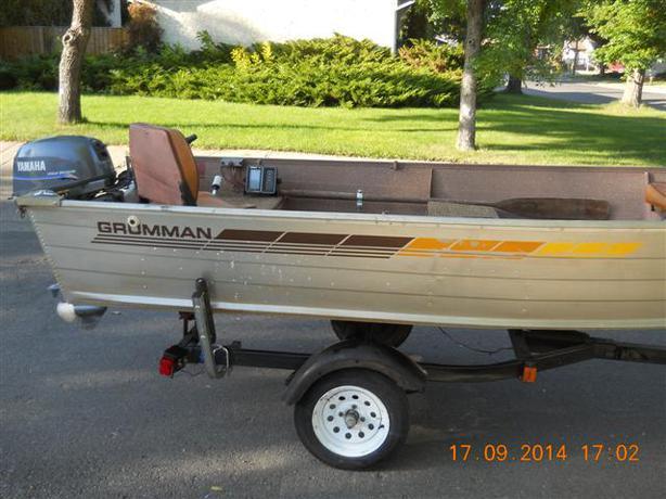 Price reduced 14 ft grumman fishing boat 4 stroke 15 for 14 ft fishing boat