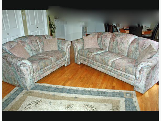 Sklar Peppler Sofa And Loveseat Couch Livingroom Gray