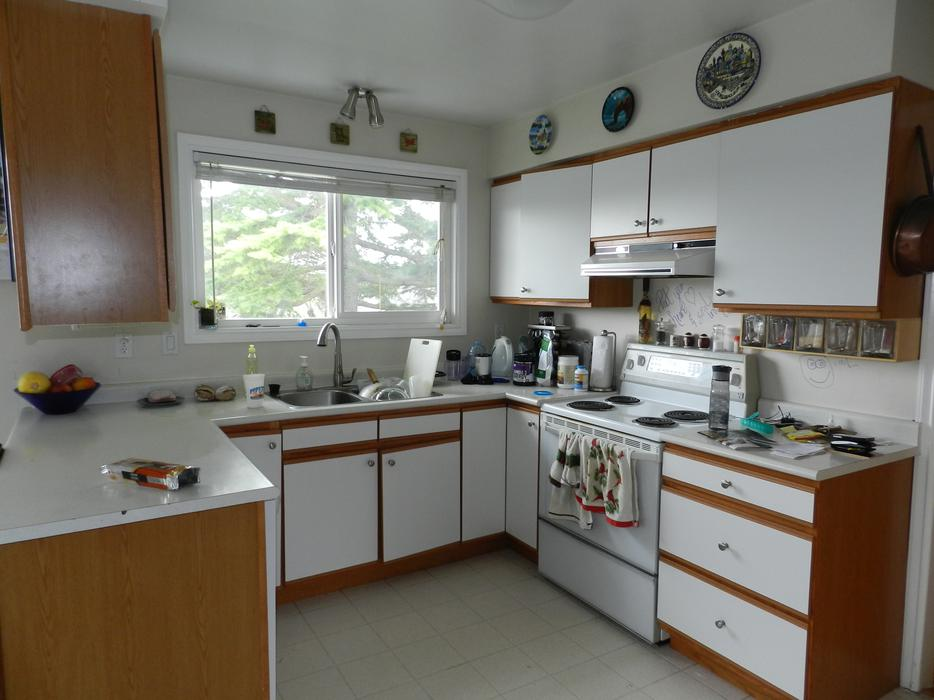 Galley style kitchen cabinets saanich victoria for Kitchen cabinets victoria