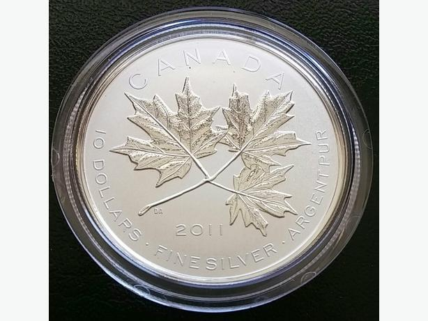 2011, 2012 Silver Coins - Maple Leaf Forever