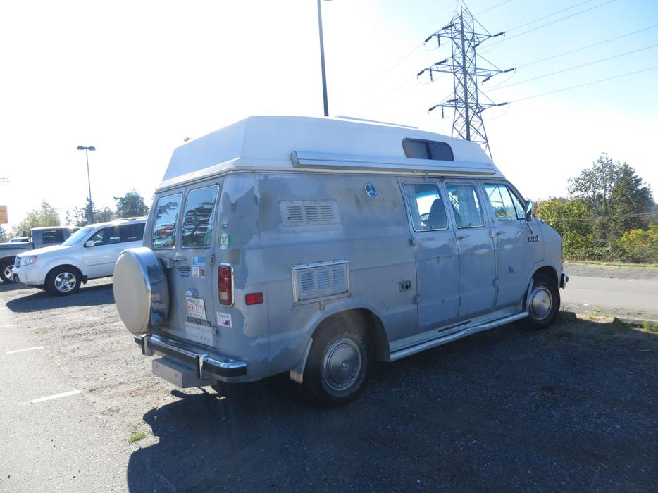Unique Find Off Grid 1985 Dodge Custom Camper Van