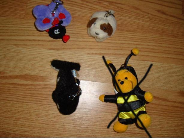 Like New Collectable Keychains Ladybug Dolphin Bear Gerbil $1 each