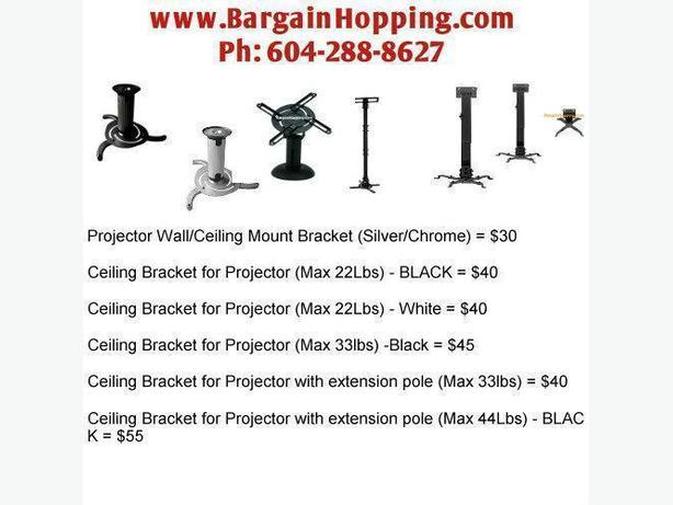 Projector Ceiling Brackets With or Without Extension Pole