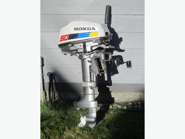 Honda outboard motor 5 hp 4 stroke saanich victoria for Honda 4 stroke outboard motors