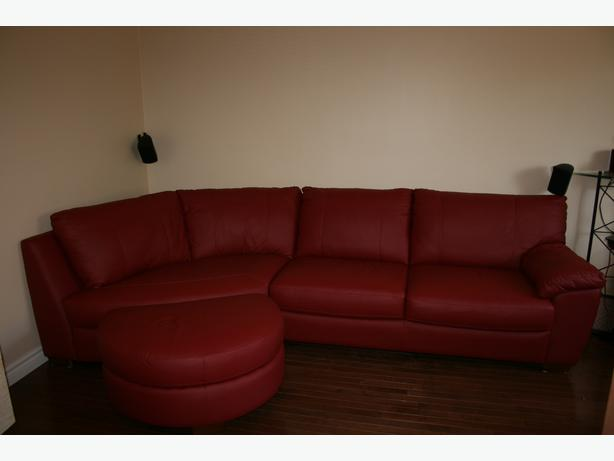 Red Leather Sofa From Ikea Vreta Model Montreal Montreal