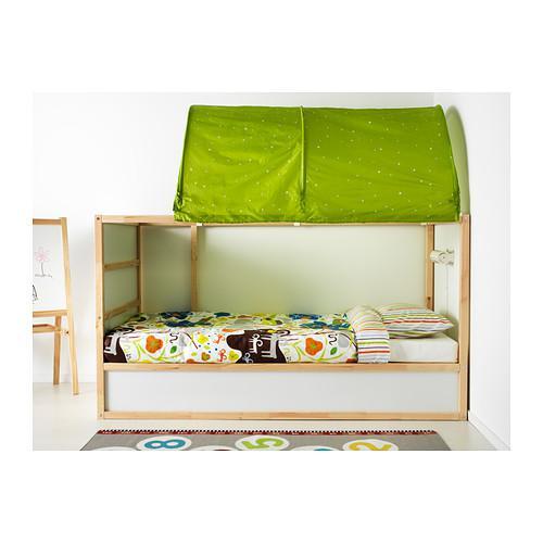 Ikea bunk bed kura reversible bed white pine for Reverse loft bed