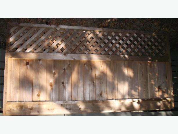 Free 2 4x8 Red Cedar Fence Panels Victoria City Victoria